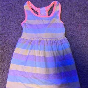striped girls dress